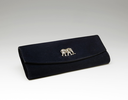 Satao Brooch on Clutch bag