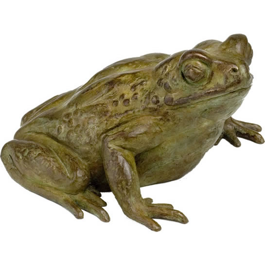 bronze sculpture COMMON EUROPEAN TOAD