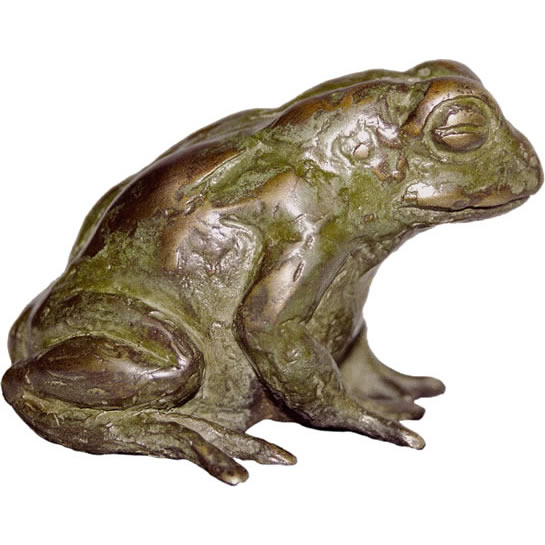 bronze sculpture GUTTURAL TOAD