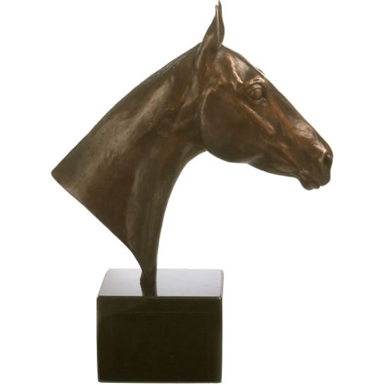 portrait in bronze POLO PONY